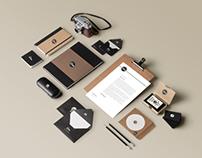 Identidad Visual Dom ( Tarjeta + Papelería + Piezas )