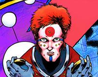 Ziggy Stardust. Illustration.