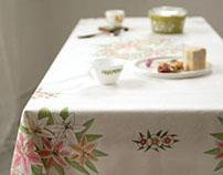 Lily Bouquet Table Cover (Nesshome)
