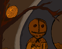 Trick R Treat Ink Illustration