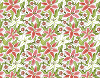 Lily & Dianthus pattern (Nesshome)