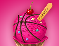 ice cream to dribbble