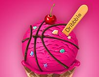 ice cream to dribbble