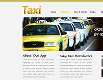 Taxi app  website design