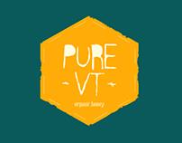 Pure VT Bee branding