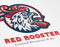 Rooster Restaurant and Bar Logo Template