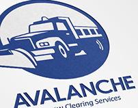 Avalanche Snow Removal Services Logo Template