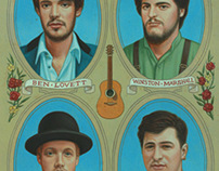 MUMFORD&SONS illustration for Rolling Stone