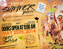 Summer Graduation & Spring Break Party Flyer