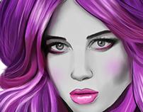 pretty purple lady