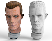 Macro 3D Scan - T1000 Painted Head Model