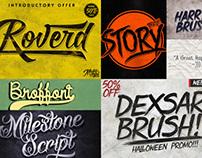 7 Premium Custom Fonts
