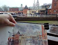 Plein air and studio watercolors