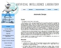 Web design for a laboratory of the University of Udine