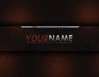 2D YouTube Banner Design