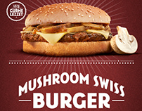 Burger King Mushroom Swiss Burger