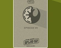 Flat Star Wars Poster for Episode 7