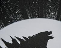 Godzilla Print.