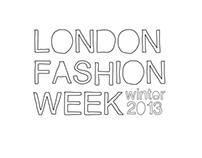London Fashion Week 2013 Poster