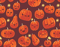 Pumpkin Patch Repeat Pattern for Black Milk Clothing