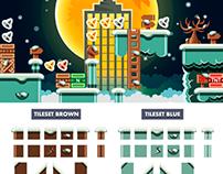 """Platformer Game Tile Set """"Winter"""""""