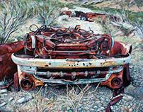"""""""El hombre de los coches oxidados"""" Eox & C.Blanxer"""