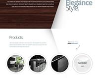 Berk Laminate Web Design