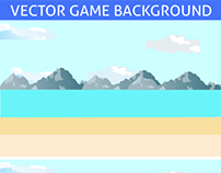 2D Beach Game Background