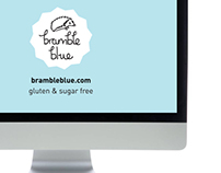 BrambleBlue gluten & sugar free co. branding