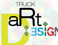 Helvetica and Truck Art Font Composition