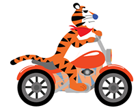 Biker Tiger vs Tricycle Puppy