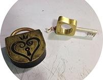 Kingdom Hearts Lock and Keyblade Ring