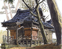 Watercolor Sketches in Japan by Olivier ( part 1)