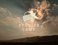 Survival Camp website concept .