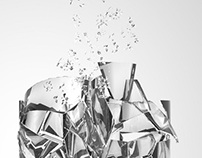 Crashed glass