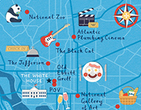 Cara Magazine - Washington DC map