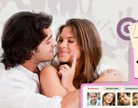Dating site sign up and login sample page