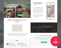 Freebie – Canva – Multipurpose Newsletter/Email PSD