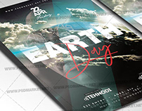 Earth Day Party Flyer - PSD Template