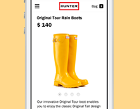 Hunter. Mobile site concept