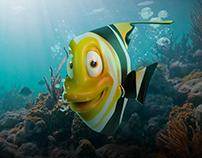 Modern magic - TIM cartoon fish
