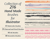 Hand Made Brushes for Illustrator