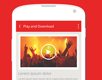 Favourite Video Downloader , Android app design