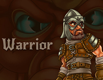 Warrior (character for RPG/Roguelike Dragon's Dungeon)