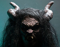 Satan Prosthetic Mask and Horns