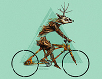 Ilustración Venado Ciclista