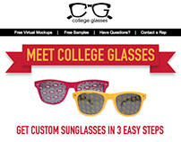 College Glasses Email Design