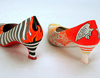 Hand-Painted High Heels