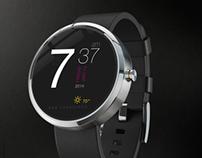 Motorola 360 watch face design