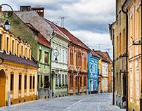 Medieval street in Brasov (Postavaru)